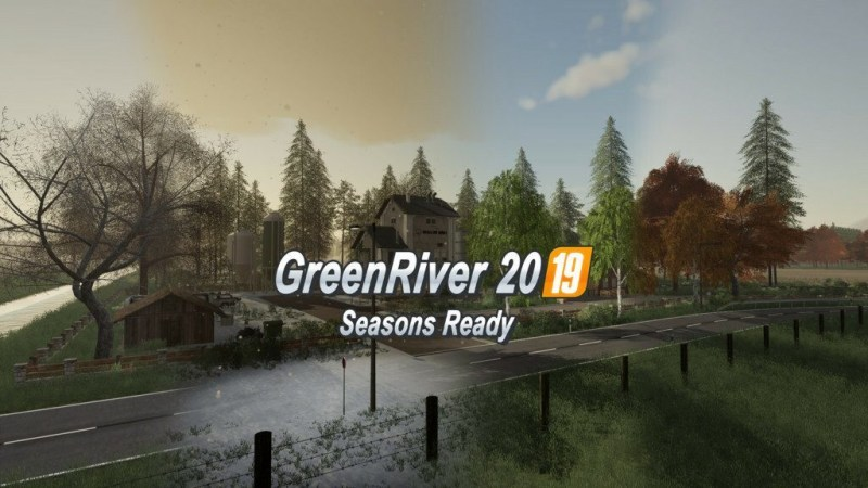 Карта «GreenRiver2019 Farming Agency Edition» для Farming Simulator 19 главная картинка