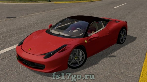 Мод Ferrari 458 Italia для Farming Simulator 2017