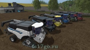 Многоцветный New Holland CR 10.90 для Farming Simulator 2017
