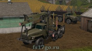 Лесовоз Урал для Farming Simulator 2017
