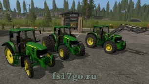 Мод John Deere 7430/7530 для Farming Simulator 2017