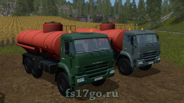Мод КамАЗ Бензовоз для Farming Simulator 2017