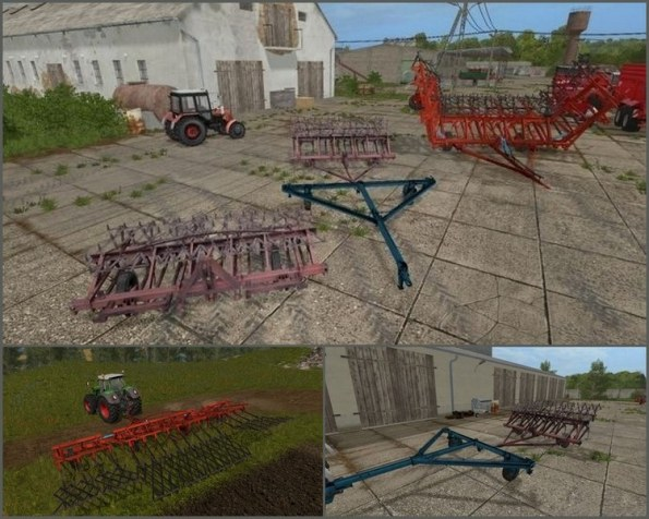Мод КПС 4 и KPS 8 со сцепом для Farming Simulator 2017