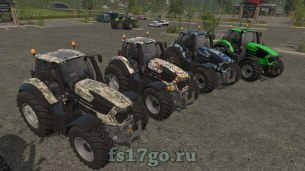 Мод Deutz Fahr Series 9 + дизайны для Farming Simulator 2017