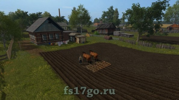 Карта Коровино для Farming Simulator 2017