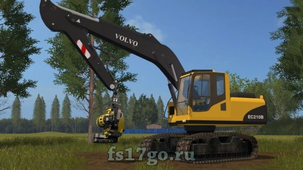 Техника для леса Volvo EC 210B для Farming Simulator 2017