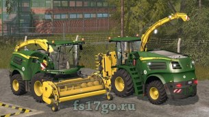 Мод комбайна John Deere 8000 для Farming Simulator 2017
