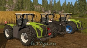Мод трактора Claas Xerion 4000-5000 для Farming Simulator 2017