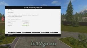 Мод «Bank of Hagenstedt v2.2 Rus» для Farming Simulator 2017