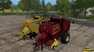 Тюковщик New Holland BB980 для Farming Simulator 2017