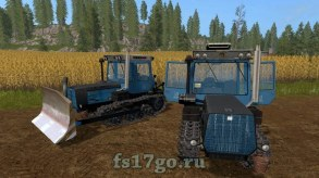 ХТЗ-181 и Бульдозерный отвал для Farming Simulator 2017