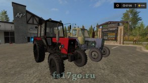 Мод на трактора ЮМЗ-6КЛ и МТЗ-80.1  для Farming Simulator 2017