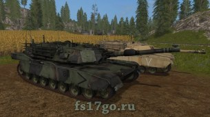 Мод Танк M1A1 ABRAMS для Farming Simulator 2017