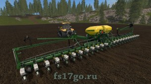 Мод сеялка John Deere DB60 для Farming Simulator 2017