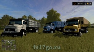 Мод грузовик Mercedes Benz 1513 для Farming Simulator 2017