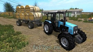 Мод прицеп HW80 Strohwagen UAL для Farming Simulator 2017
