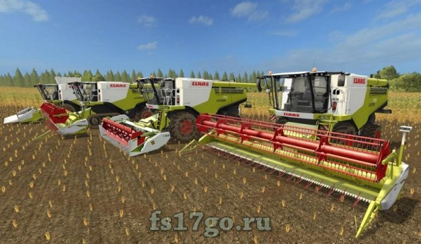 Мод Пак «Claas Lexion 700 Stage IV Pack» для Farming Simulator 2017
