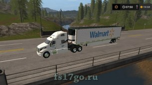 Мод «Walmart Peterbilt and Trailer» для Farming Simulator 2017