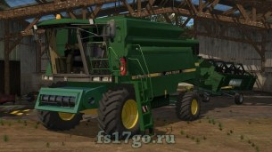 Мод комбайна «John Deere 2056» для Farming Simulator 2017