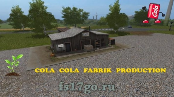 Мод «Cola cola production» для Farming Simulator 2017