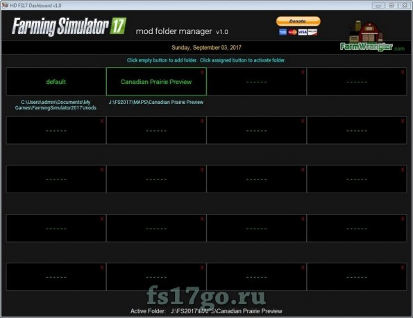 FS17 Mod Folder Manager Software для Farming Simulator 2017