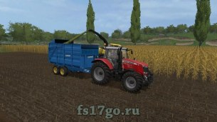 Мод «West 10t Silage Trailer» для Farming Simulator 2017