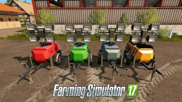 Мод «Construction Light Trailer» для Farming Simulator 2017