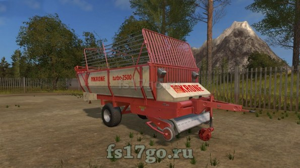 Мод «Krone Turbo 2500» для Farming Simulator 2017