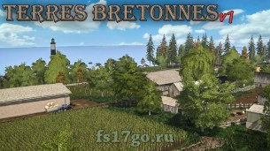 Карта «Terres Bretonnes» для Farming Simulator 2017