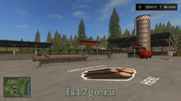 Мод «Wood Crusher Placeable» для Farming Simulator 2017