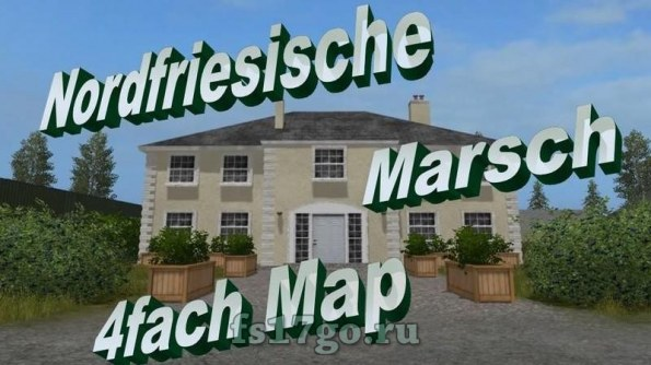 Карта «North Frisian march 4-fold map» для Farming Simulator 2017