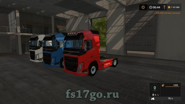 Мод тягача «VOLVO FH750» для Farming Simulator 2017