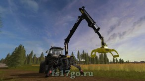 Мод «Ponsse Rear Mounted Crane + Lifting Hook Crane» для FS 2017