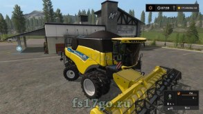 Комбайн «New Holland Cr 5.85 Evo»  для Farming Simulator 2017