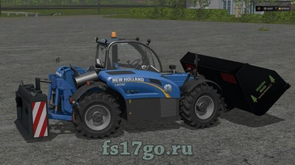 Мод погрузчик «New Holland LM 742» для Farming Simulator 2017