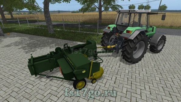 Мод «Baler John Deere 24T» для Farming Simulator 2017