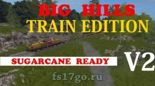 Карта «Hills Map Train Edition» для Farming Simulator 2017