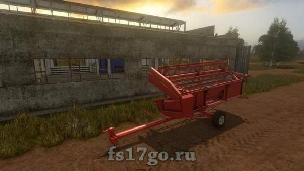 Мод «Bizon Z056 Cutter Trailer» для Farming Simulator 2017
