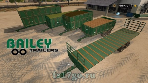 Пак прицепов «Bailey Trailers» для Farming Simulator 2017