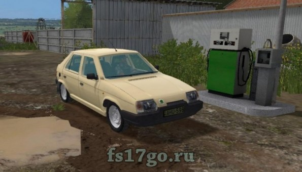 Мод «Skoda Favorit 135L» для Farming Simulator 2017