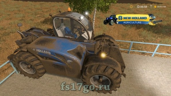 Мод «New Holland LM 7.42» для Farming Simulator 2017