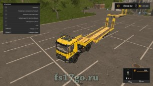 Мод «Low Loader with MB Arocs» для Farming Simulator 2017