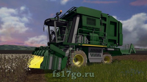 Мод «John Deere 7760 + Жатки» для Farming Simulator 2017