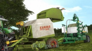 Мод «Claas Rollant 250 With Bale Wrapper Arm» для FS 2017