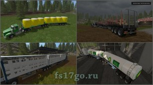 Мод «Custom Road Train Pack» для Farming Simulator 2017