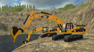 Мод «Caterpillar 345D Pack» для Farming Simulator 2017