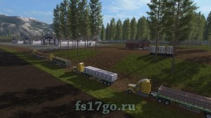 Карта «River Pine Acres RUS» для Farming Simulator 2017