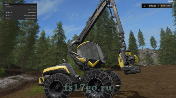 Мод «Ponsse Wolverine» для Farming Simulator 2017