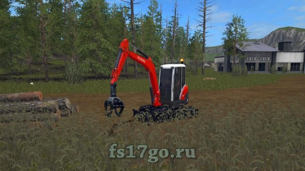 Мод «Kubota KX71 3 mitZange» для Farming Simulator 2017