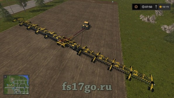 Мод сеялка «Lantmanen Fs Zell's 214ft Sowing Rig» для FS 2017